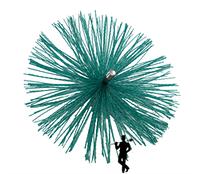 Щетка для чистки дымохода ф200мм пластиковая под резьбу