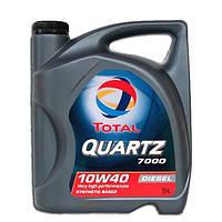 Моторное масло Total Quartz 7000 DIESEL 10w-40 5л полусинтетика для Volkswagen Mercedes-Benz Peugeot Citroen