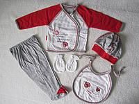 Костюм комплект трикотажный для новорожденных Солнышко 0-3 месяца