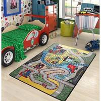 Коврик в детскую комнату Confetti Race 100*150 зеленый