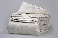 Одеяло из новозеландской овечьей шерсти «Серебро» тик (зима) 140*205см