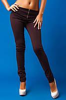 Женские утепленные зауженные брюки, дайвинг, коричневый
