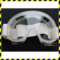 Защитные закрытые панорамные очки Vision, силикон.