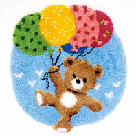 """Набор для вышивки в ковровой технике """"Коврик """"Bear with Balloons Rug"""""""