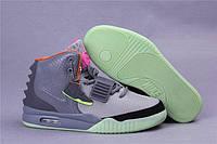 Серые кроссовки мужские Nike air yeezy 2 Оригинал