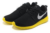 Кроссовки для бега Nike rosche run II мужские Черно-желтые Оригинал