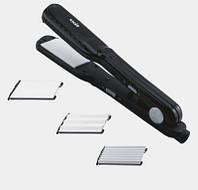 Плойка гофре для волос MAGIO MG-175BL  (3 пары керамических насадок)