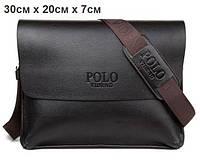 Стильная мужская кожаная сумка POLO