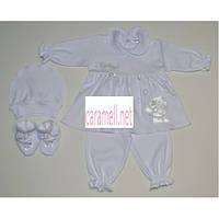 Комплект с платьем для младенца Ангелок. Размер 62 см