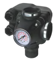 Реле давления для насосов PM/5-3W (Italtecnica) со встроенным манометром и муфтой с тремя выходами