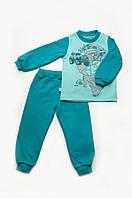 Пижама детская утепленная для мальчика (изумруд-мята) 03-00611-0 МК
