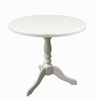 Стол кофейный круглый Стелла/Одиссей. Белый, ванильный не раскладной