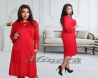 Платье женское батал  дайвинг Размеры 52,54,56