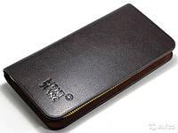 Стильный мужской клатч портмоне MontBlanc (коричневый)