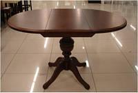 Стол раскладной Анжелика орех, диаметр 90см