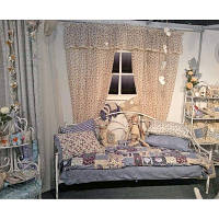 Кровать кованная с ламельнай основой 200х100см