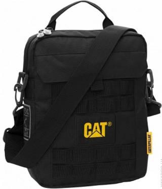 Удобная мужская сумка с отделением для планшета CAT COMBAT 83150;01 черный