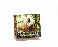 Шкатулка-книга на магните с 4 отделениями Козак Мамай