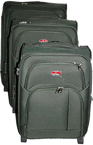 Серый набор чемоданов 2-колесных 3 шт. Suitcase 913751-grey