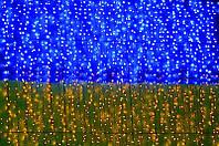Led гирлянда CURTAIN UA 288шт, 82.8W, 1.5x1m синий