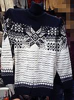 Тёплый свитер под горло