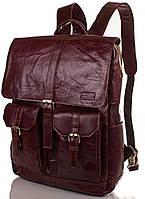 Мужская, качественная кожаная сумка-рюкзак ETERNO (ЭТЕРНО) ET1017-1 коричневый