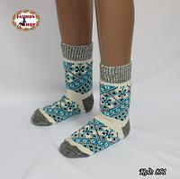Женские шерстяные носки Морозные узоры2