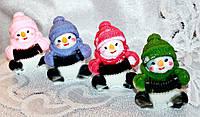 """Новогодний набор мыла ручной работы """"Снеговик с гармошкой"""""""