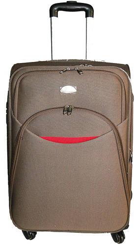 Средний тканевый 4-колесный чемодан 56 л. Suitcase 013754-hakki хаки