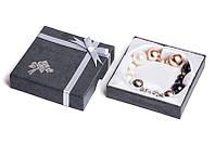 Набор серьги шары Dior цвет серебристый, золотой, белый, черный жатый эффект/набор