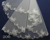 Свадебная фата- компьютерная вышивка №206