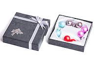 Набор серьги шары Dior цвет голубой, красный, темно-розовый, коричневый/набор