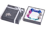 Набор серьги шары Dior цвет синий, голубой, сиреневый, серебристый металлик со стразами/набор