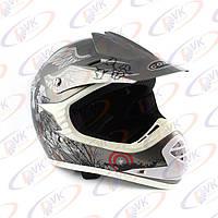 Кроссовый шлем COM  MH-15B grey, размер L