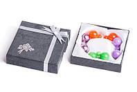 Набор серьги шары Dior цвет оранжевый, салатовый, сиреневый глянцевый, сиреневый металлик/набор