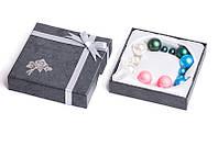 Набор серьги шары Dior цвет зеленый, розовый, розовый матовый, белый перламутр/набор