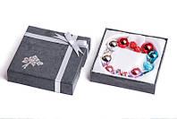 Набор серьги шары Dior цвет голубой, серебряный, сиреневый, красный со стразами/набор