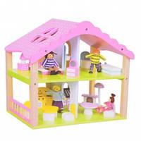 Домик для кукол деревянный с мебелью арт. T65-020