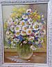 «Ромашки: яркие краски лета» картина маслом