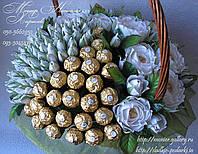 """Букет из конфет """"Для белоснежки"""" с Ферреро Роше"""