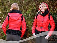Куртка трансформер пуховик китай желетка красная