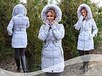 Зимняя куртка   Пуховик  Пальто  Парка  серое пальто  орегинальный дизайн