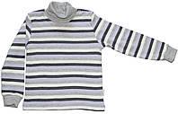 Гольф теплый детский в разноцветную полоску на кнопках, рост 86 см, ТМ Бемби