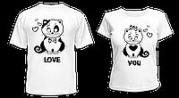 """Парные футболки """"Love you"""""""