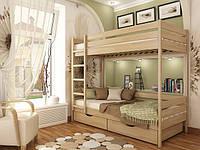 Кровать двухярусная из бука Дуэт-102