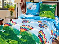 """Комплект постельного белья подростковый """"Парад воздушных шаров"""" (ранфорс) ТМ""""KIDSDREAM"""""""