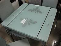 Стол стеклянный обеденный раскладной В 179-8