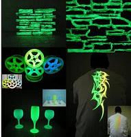 Набор люминофоров пробники 4х10 г,бирюза (мелкий,крупный) зеленый (мелкий,крупный)