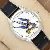Часы мужские наручные с принтом Героям Слава Silver/Black