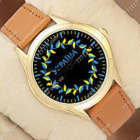 Часы мужские наручные с принтом Украина лепестки